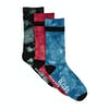 Globe All Tied Up Pack of 3 Socks - Asstorted
