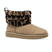 UGG Fluff Mini Quilted Leopard Womens Boots