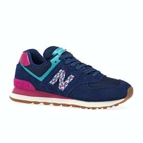 New Balance Wl574 Womens Running Shoes - Techtonic Blue