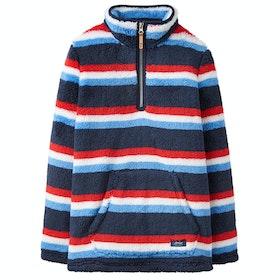 Joules Woozle Boys Fleece - Navy Stripe