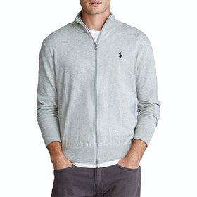 Sweter Polo Ralph Lauren Pima Cotton Zip - Grey Heather