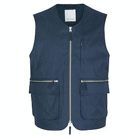 Samsoe Samsoe Bue Waistcoat 11118 Jacket - Night Sky