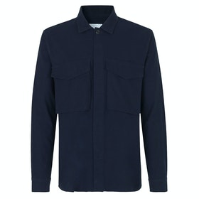 Samsoe Samsoe Ruffo Jk Zip Shirt 11118 Shirt - Night Sky