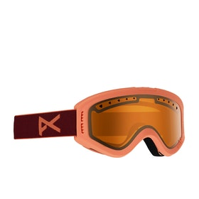Anon Tracker Kids Snow Goggles - Coral ~ Amber
