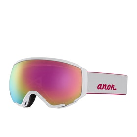 Anon Wm1 With Spare Lens Womens Snow Goggles - Pearl White ~ Sonar Pnk