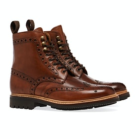 Grenson Fred Herren Stiefel - Tan Commando Sole