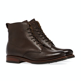 Grenson Murphy Men's Boots - Dark Brown Hand Painted Grain