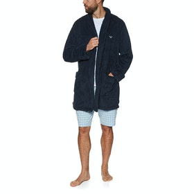 Emporio Armani Knitted Dressing Gown - Marine