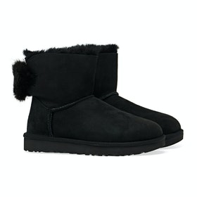 UGG Mini Puff Crystal Bow Damen Stiefel - Black