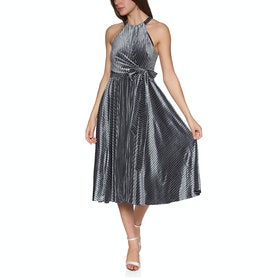Ted Baker Cyleste Wrap Bodice Sleeveless Women's Dress - Gunmetal