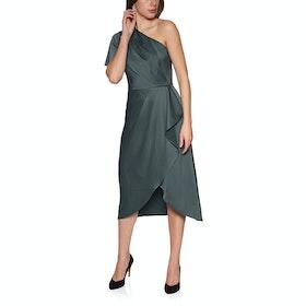 Ted Baker Ridah Waterfall Skirt One Shoulder Women's Dress - Gunmetal