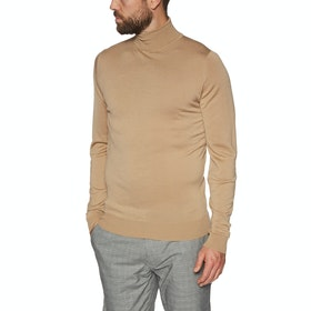 Sweter Męskie John Smedley Made in England Cherwell Roll Neck - Light Camel