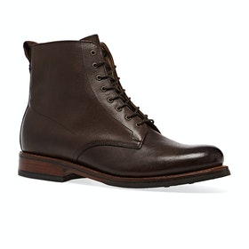 Grenson Murphy Boots - Dark Brown Hand Painted Grain