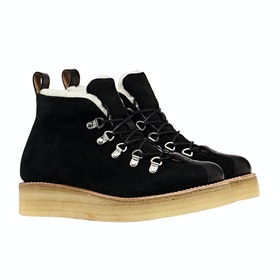 Grenson Bridget Ladies Boots - Black Calf Suede