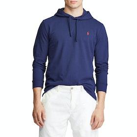 Pullover con Cappuccio Polo Ralph Lauren Cotton Mesh - Blue