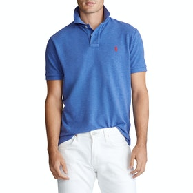 Koszulka polo Polo Ralph Lauren Basic Mesh Small Logo - Dockside Blue Heather