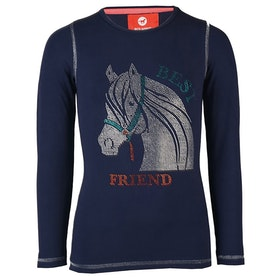 Horka Red Horse Flash Girls Top - Dark Marine