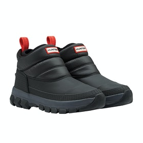 Hunter Insulated Snow Ankle Dame Støvler - Black