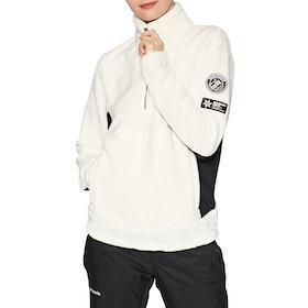 Polaire Femme Superdry Storm Fleece Midlayer Half Zip - Ice White