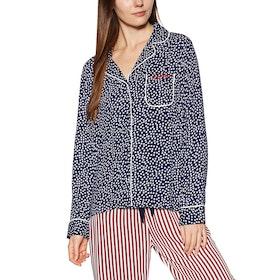 Superdry Weekender Luxe Shirt Womens Pyjamas - Navy Aop