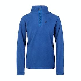 Protest Perfecty Jr Quarter Zip Boys Fleece - Sporty Blue
