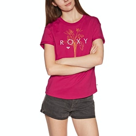 Roxy Epic Afternoon Logo Womens Short Sleeve T-Shirt - Cerise