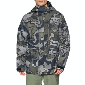 Quiksilver Mission Print Snow Jacket - Black Sir Edwards
