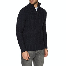 Sweat Superdry Jacob Henley - Downhill Navy Twist