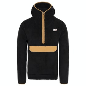 North Face Campshire Pullover Hoody - TNF Black British Khaki
