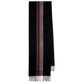Paul Smith Cashmere Artist Stripe Scarf - Black