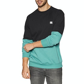 Sweat DC Rebel Crew Block - Teal