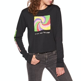Volcom Ozzy Earth People Womens Long Sleeve T-Shirt - Black