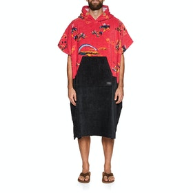Changing Robe Rip Curl Hopper Poncho - Bright Red