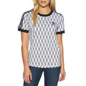 Adidas Originals 3 Stripes Womens Short Sleeve T-Shirt - Black