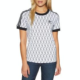 T-Shirt à Manche Courte Femme Adidas Originals 3 Stripes - Black