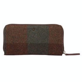 Joules Fairford Tweed Ladies Purse - Green Tweed
