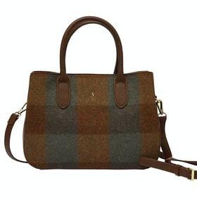 Joules Thernwell Tweed Ladies Handbag - Green Tweed