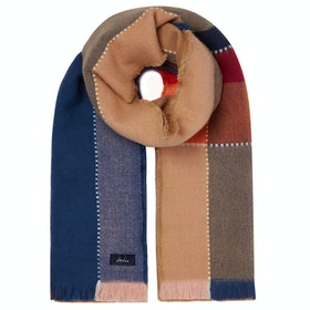 Joules Stamford Ladies Scarf - Tan Check