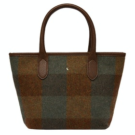 Joules Carey Tweed Dames Handbag - Green Tweed
