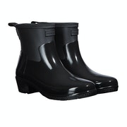 Hunter Refined Slim Fit Low Heel Gloss Duo Women's Wellington Boots