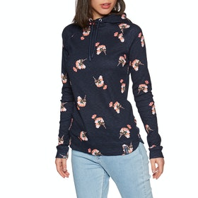 Joules Marlston Print Dame Pullover Hættetrøje - Navy Posy