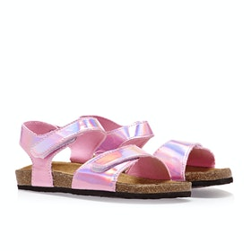 Joules Tippytoes サンダル - Metallic Pink