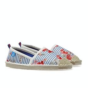 Joules Ocean Flipadrille Damen Espadrilles - Blue Floral Stripe