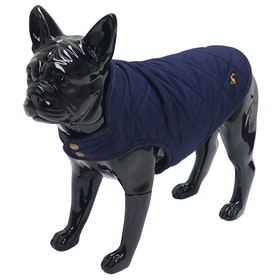 Joules Quilted Dog Jacket - Navy