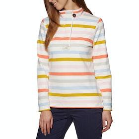 Joules Saunton Funnel Neck Damen Pullover - Multi Stripe