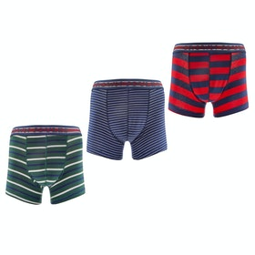 Joules Crown Joules 3 Pack Boxer Shorts - Multi Stripe