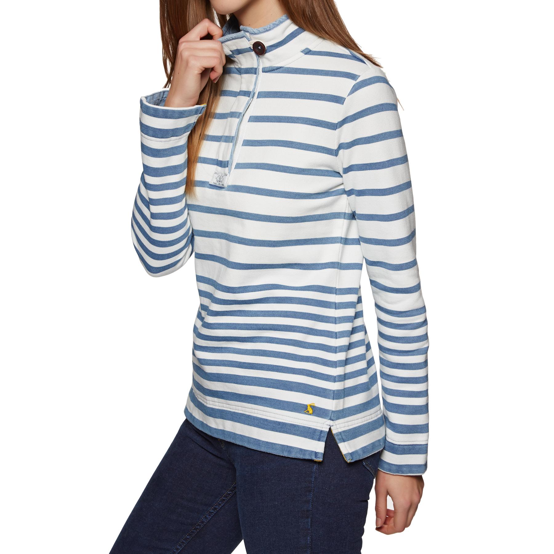 Blue Stripe Joules Womens Saunton Saltwash Sweatshirt