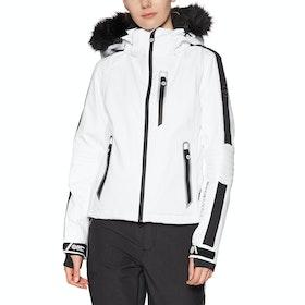 Superdry Ski Carve Womens Snow Jacket - Arctic White