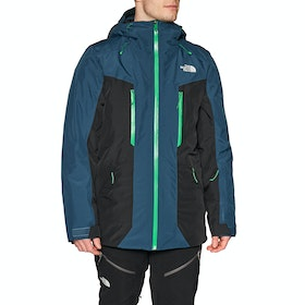 North Face Mount Bre Snow Jacket - Blue Wing Teal Tnf Black