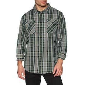 RVCA Thatll Work Flannel Shirt - Smoke